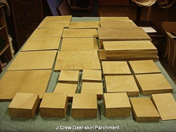 J Crew Deer skin Parchment