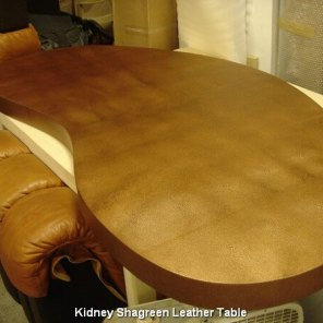 Kidney Shagreen Leather Table