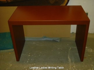 Leather Ladies Writing Table