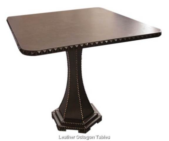 Leather Octogon Tables
