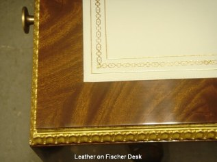 Leather on Fischer Desk