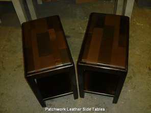 Patchwork Leather Side Tables