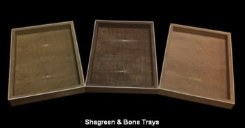 Shagreen & Bone Trays
