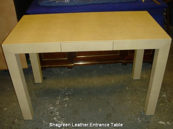 Shagreen Leather Entrance Table