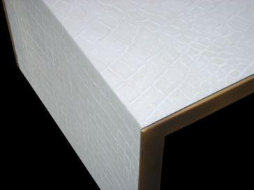 White Kimbo Croc Table 2