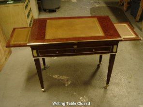 Writing Table Closed