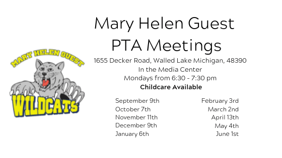 Mary Helen Guest PTA Meetings