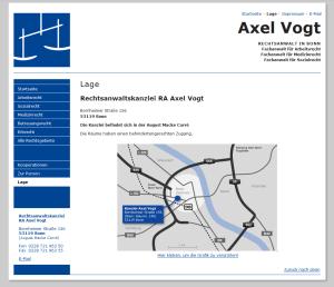 Anfahrt zum Rechtsanwalt Axel Vogt