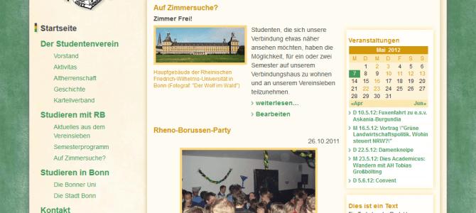 Webseite der Rheno-Borussen online