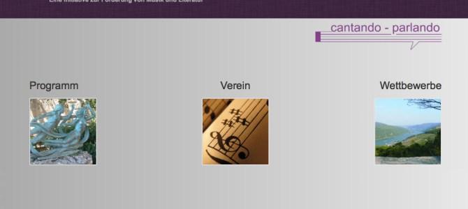 """Webseite für """"cantando – parlando e. V."""" online"""