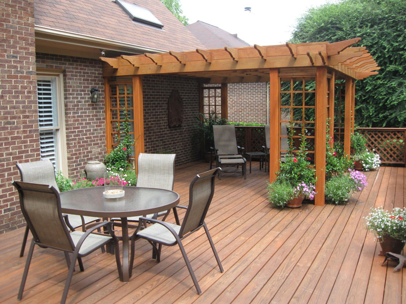 Bring The Living Room Outside | MH Landscapes on Simple Back Deck Ideas id=11801