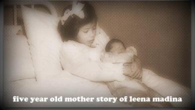 Photo of five year old mother story of leena madina