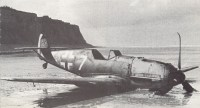 Crash-landed Me109 E-4 on the French Channel coast 1940 Battle of Britain.