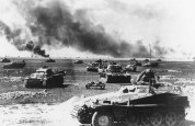 German armored vehicles during the Battle of Kursk, Soviet Union, July 1943. The Battle of Kursk took place when German and Soviet forces confronted each other on the Eastern Front during World War II in the vicinity of the city of Kursk, in the Soviet Union in July and August 1943.
