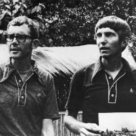 American brothers Peter and David Kunst arrived in Delhi, India, on June 11, 1973--three years into their unprecedented journey 'round the world on foot. The brothers estimated they would have to walk for another year before arriving at their starting point, Waseca, Minnesota. (Photo: Getty Images)