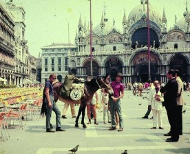John and Dave Kunst in St. Mark Square Venice, Italy.