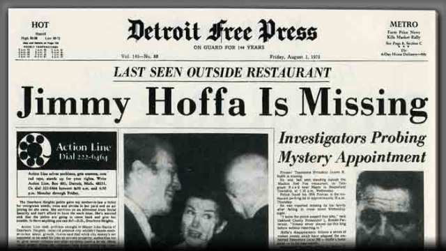 Image result for ed-teamsters leader jimmy hoffa disappears