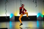 Taylor Christensen's dance routine received a roar of applause at the Mr. Madison Contest. Photo courtesy: John Tourcotte