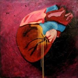 """""""Comme des larmes d'or qui de mon coeur s'égouttent, Feuilles de mes bonheurs, vous tombez toutes, toutes."""" (122 x 122 cm)"""