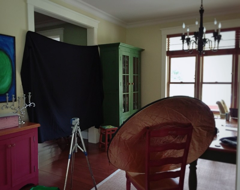 Home was transformed into a photo studio for my portraits of Clara Wieck