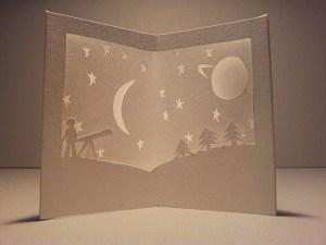 """Carte carrousel """"Astronomie"""""""