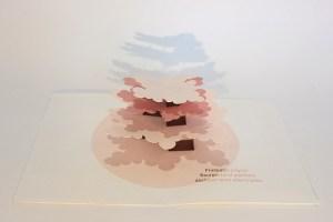 "Carte pop-up Arbre cèdre ""Printemps"", vue de profil"