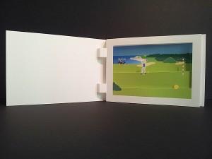 Diorama sur le thème du golf, vue d'ensemble
