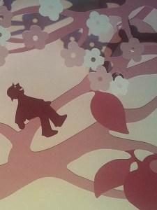 Le bonheur est dans le pré, détail dentelle de fleurs de cerisier page 6