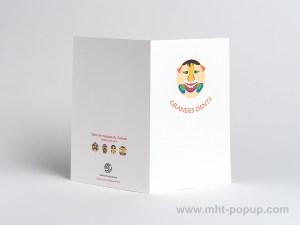 Carte Masques du Vietnam, Grandes dents, dos carte ouverte