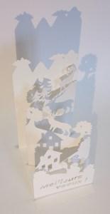 Carte de voeux en pop-up pour Tribvn, profil gauche