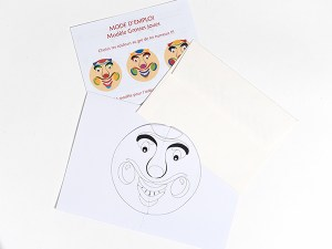 Carte pop-up Masques du Vietnam en DIY, Grosses joues, kit