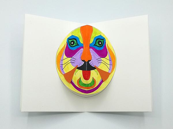 Carte Masque du Vietnam modèle Tigrrrou, Do It Yourself, carte coloriée