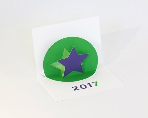Vœux MHT Pop up 2017, version vert-violet