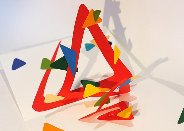 Atelier pop-up autour de la spirale simple, forme triangle