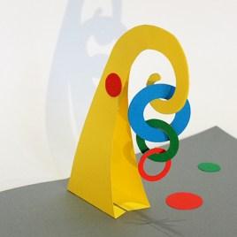 Atelier pop-up autour de Calder avec mobile simple et cercles imbriqués