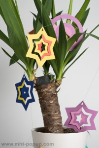 Guirlande, modèle Boules et étoiles bicolores, détail