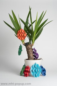 Guirlande, modèle Boules psychédéliques multicolores, vue d'ensemble