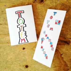 Illustrations cartes pop-up sur le thème des totems