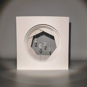 Livre tunnel de voeux de MHT Popup 2021 de face avec ombres projetées