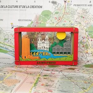 Diorama couleur de Saint-Denis, mis en scène, de face