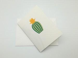 Carte pop-up Fleur de cactus, modèle étoile jaune, carte avec enveloppe