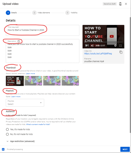 how to upload youtube video