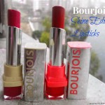 Bourjois Shine Edition Lipsticks : 21:Rouge In the making; 22:Famous Fuchsia Review,Swatches