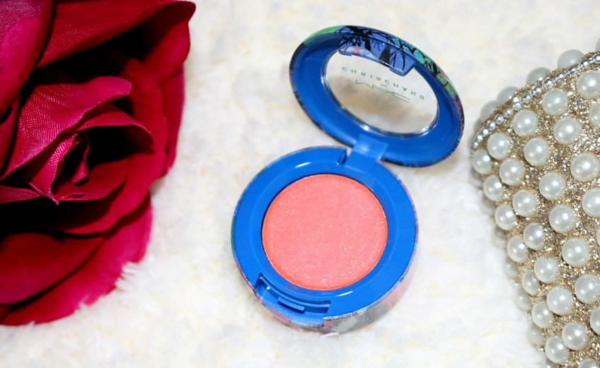 mac chris chang electric mandarin eye shadow review