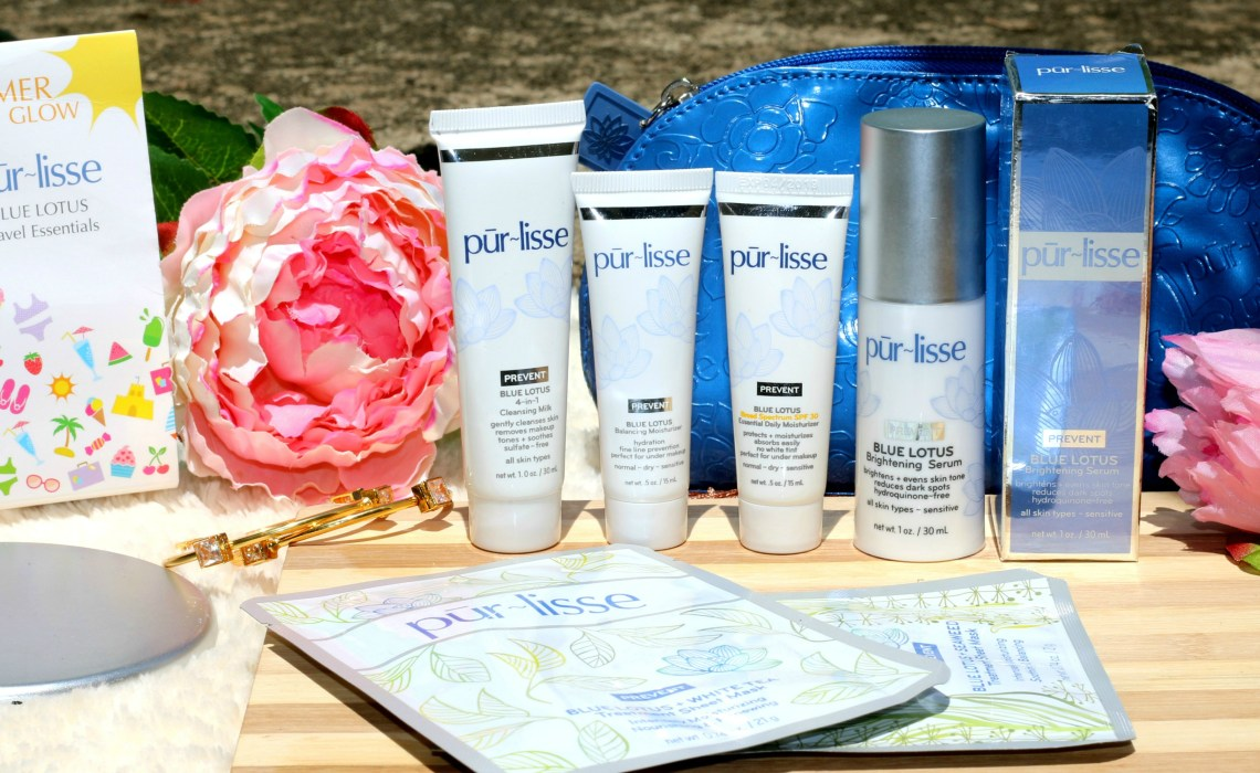 pur~lisse summer glow blue lotus travel essentials kit review