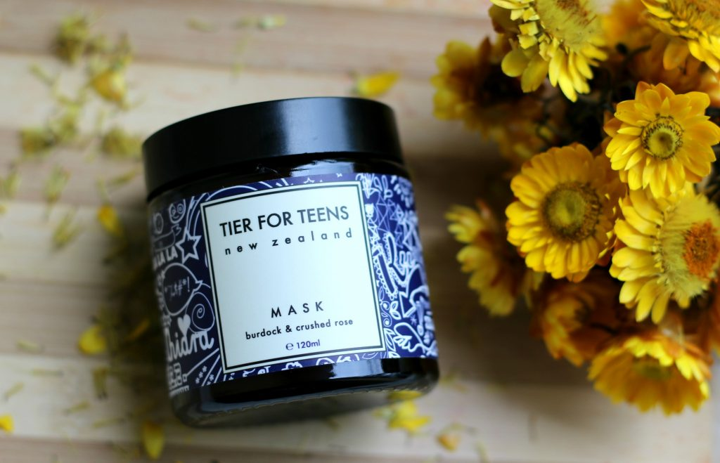 tier for teens burdock & crushed rose face mask review