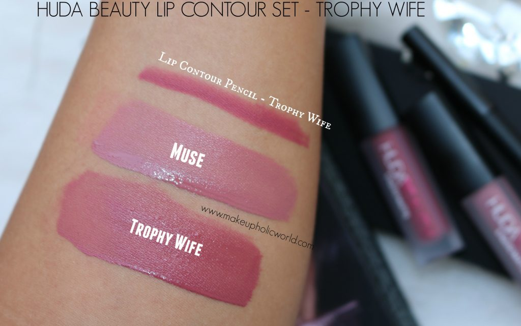 huda beauty trophy wife, muse swatches
