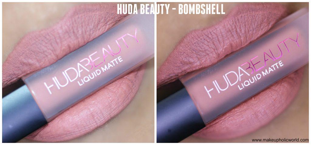 huda beauty liquid matte bombshell review