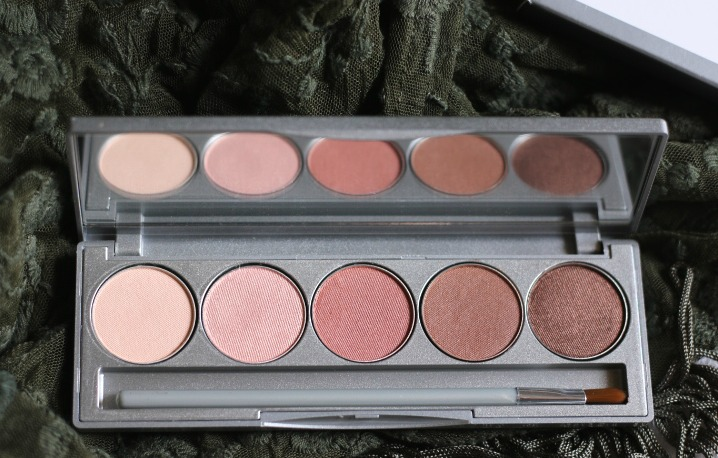 colorescience beauty on the go mineral palette swatches