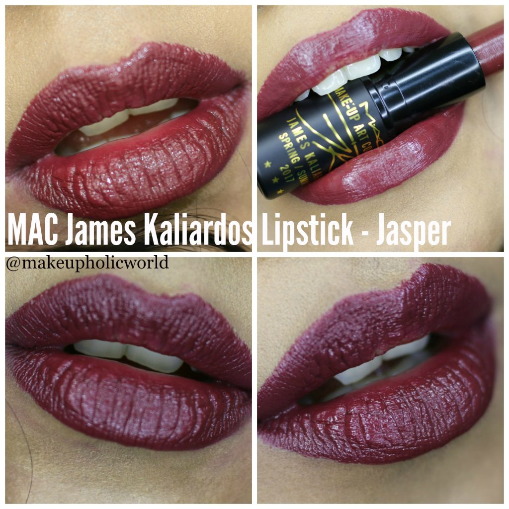 mac james kaliardos lipstick jasper review, mac james kaliardos lipstick jasper swatches